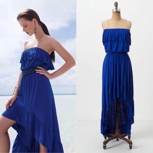 Anthropologie Lilka Damia Strapless High Low Dress